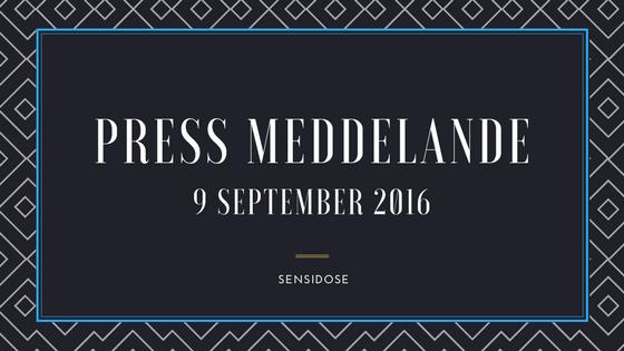 Pressmeddelande (9:e september 2016)