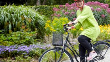 Lenas cykel har kommit till användning igen nu när balansen blivit bättre. Foto: Georg Kristiansen