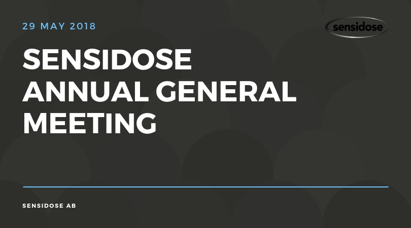 Sensidose AGM may 29 2018