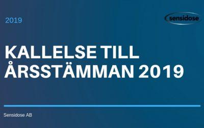 Kallelse till Årsstämma 2019