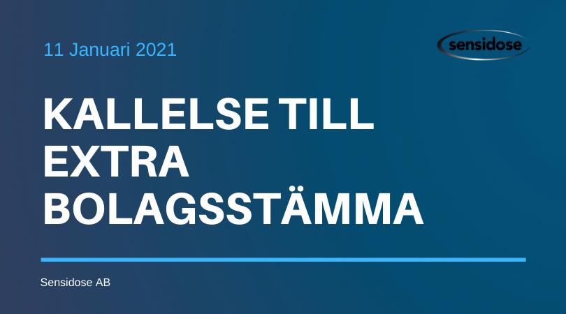 Kallelse till Extra Bolagsstämma 2021